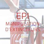 visuel formation EPI Manipulation d'extincteurs